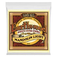 Ernie Ball 2067 Earthwood Mandolin Light 80/20 Bronze Loop End Set, .009 - .034