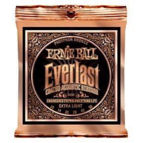 """Ernie Ball 2550 Everlast Phosphor Bronze Extra Light Coated /10-50/ - """"potažené"""" struny na akustickou kytaru"""