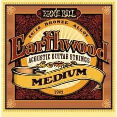Ernie Ball 2002 Earthwood Medium .013 - .056 Acoustic 80/20 Bronze