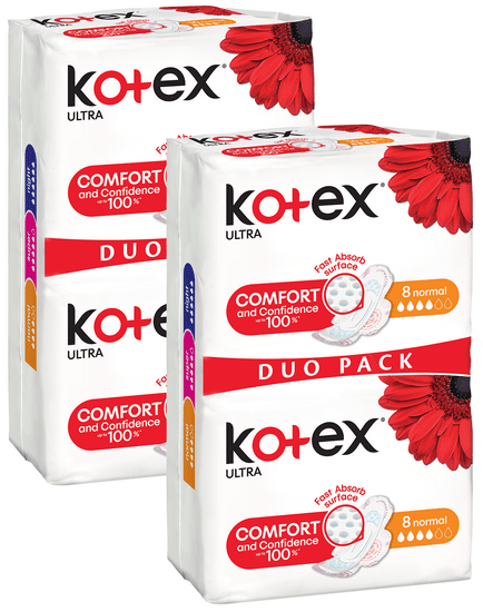 Kotex Ultra Normal 32 ks (2 x DUO Pack 16ks)