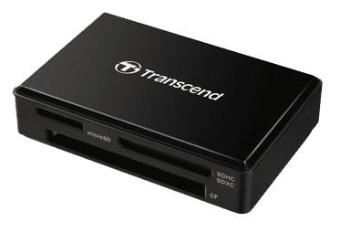 Transcend čitalec kartic RDF8, USB 3.1/3.0, micro USB v USB Type A, črn