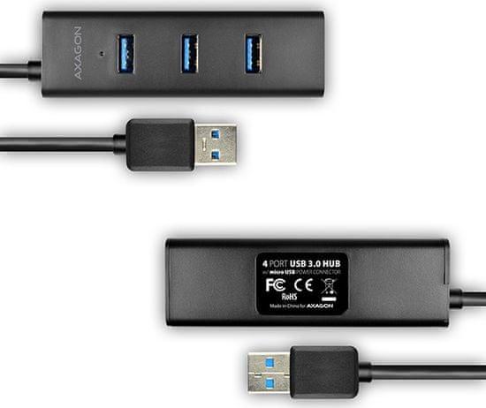 AXAGON HUE-S2B USB razdelilnik, 4× USB 3.0