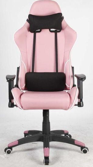 Hyle pisarniški stol Racing Pro K-8950, roza