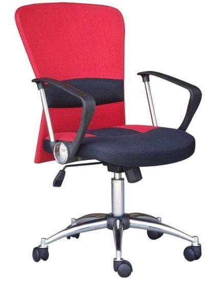 Hyle uredska stolica K-9005, crveno/crna