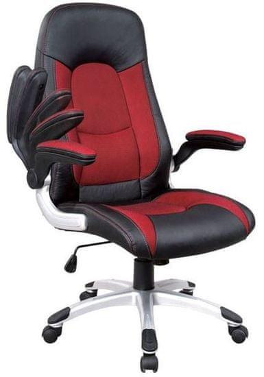 Hyle uredska stolica K-8327, crno/crvena