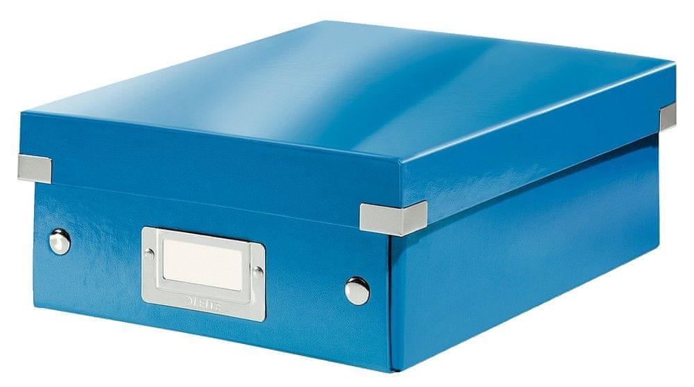 Krabice CLICK & STORE WOW malá organizační, modrá