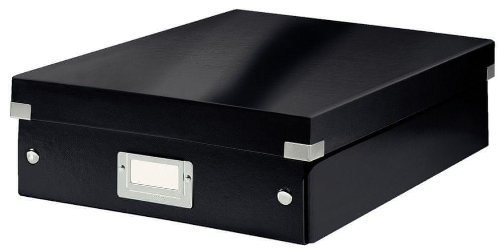 Krabice CLICK & STORE WOW střední organizační, černá