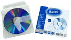 Bantex Obal na 1ks CD - samolepiací s klopou 12,5 x 12,5 cm