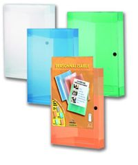 Bantex Box na dokumenty A4 s kapsou, mix farieb