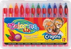 Colorino Barvy obličejové v tužce 12 barev
