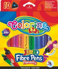 Colorino Popisovač JUMBO trojhranný 10 farieb Kids