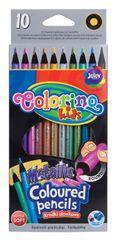 Colorino Pastelky kulaté 10 barev metalické