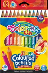 Colorino Pastelky trojhranné JUMBO 12 barev