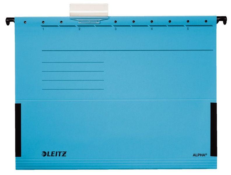 Leitz Závěsné desky ALPHA s bočnicemi modré