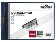 Durable Desky DURACLIP A4/30 na šířku tm. modré