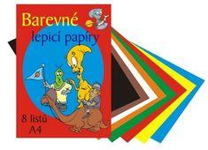 STEPA Papiere farebné zložka A4, 8 hárkov - lepiaca