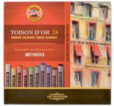 Koh-i-Noor Křída suchá (prašná) umělecká kulatá 8514/24 Toison D'Or v papír. krabičce