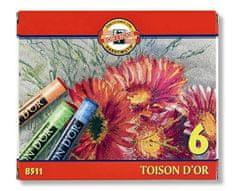 Koh-i-Noor Křída suchá školní kulatá 8511/6 Toison D'Or v papír. krabičce