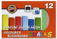 Koh-i-Noor Křída školní barevná - 12 barev