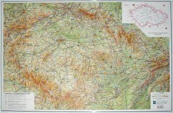 Karton PP Podložka na stůl A2 mapa České republiky