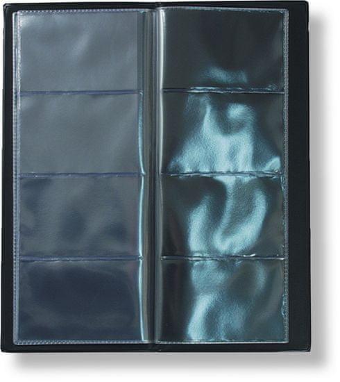 Karton PP Vizitkář čtyřřadý na 80 vizitek, černý