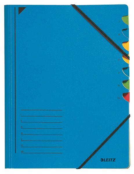 Leitz Třídící desky s gumičkou A4, 7 listů, modré