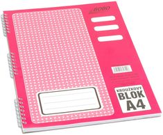 Bobo Blok kroužkový s boční spirálou A4 linkovaný 50 listů