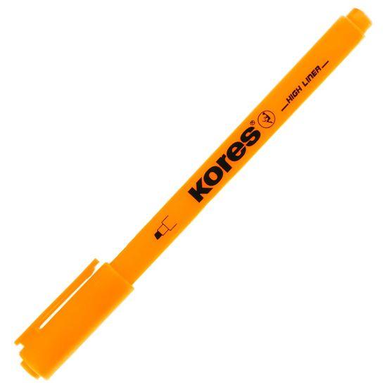 Kores Zvýrazňovač kulatý slabý oranžový