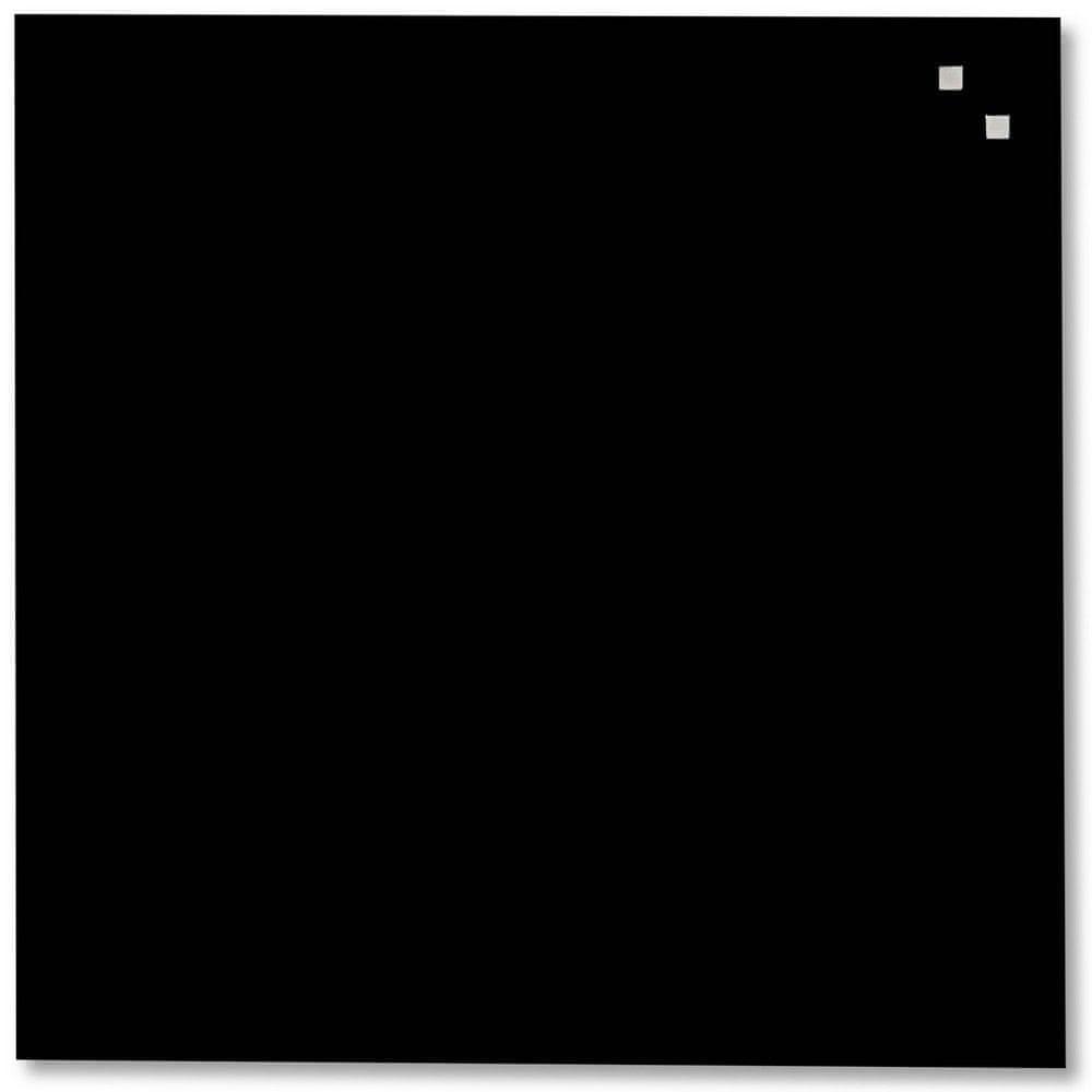 Skleněná magnetická tabule NAGA černá 45x45 cm