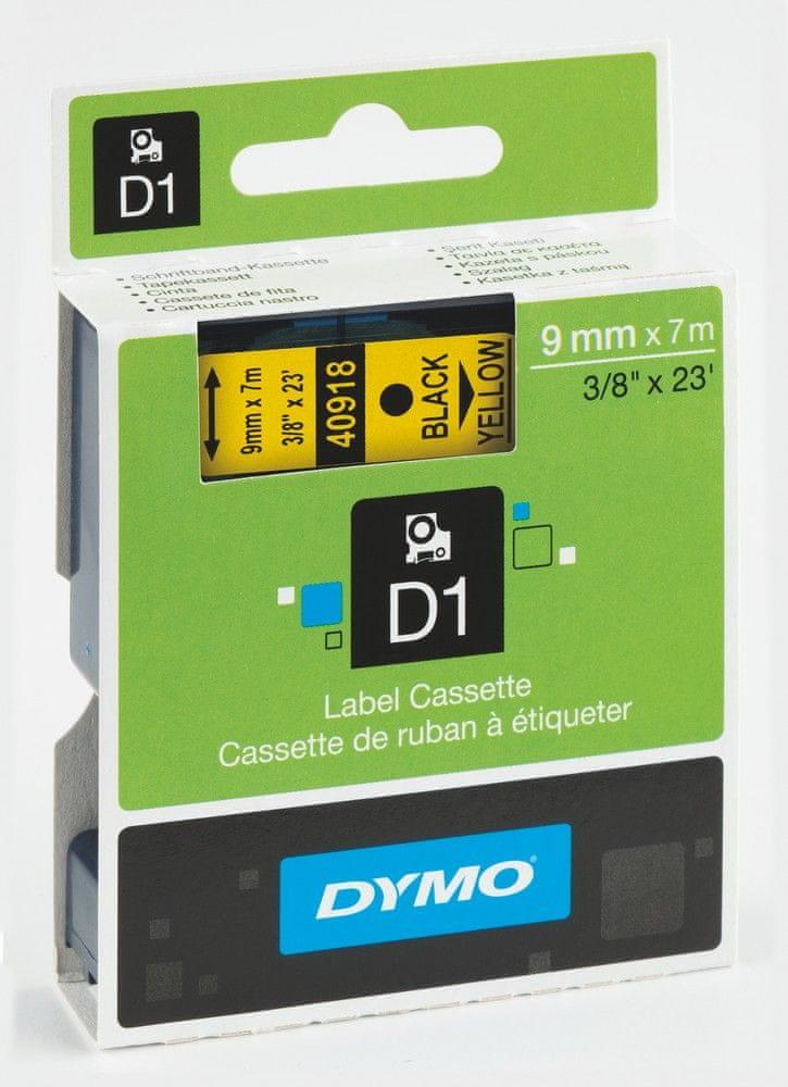 Páska DYMO D1 9mm/7m černá na žluté