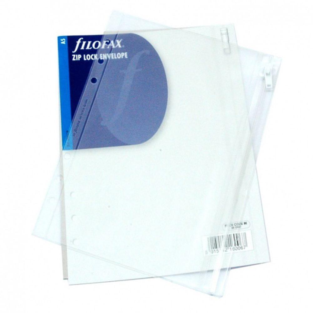 Náhradní náplň do diáře Filofax A5 průhledná obálka se zipem