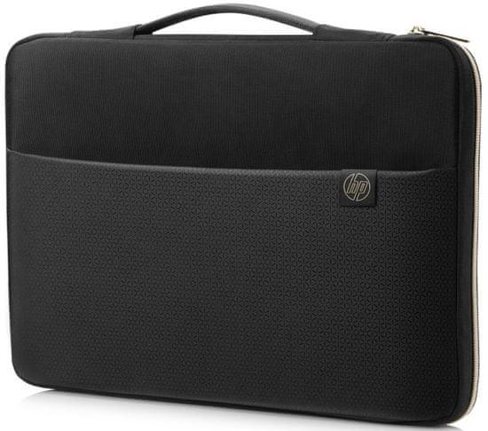 HP 14 Carry Sleeve 3XD33AA#ABB, černá/zlatá