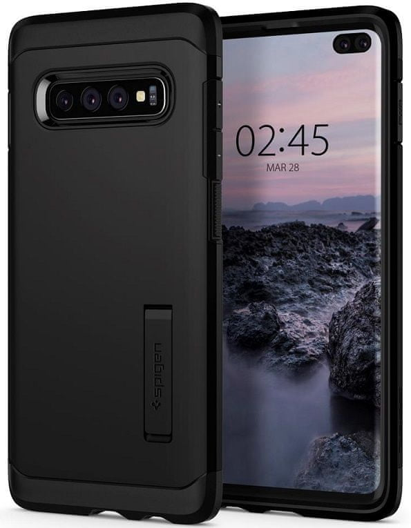 Spigen Ochranný kryt Tough Armor pro Samsung Galaxy S10 Plus, černý 606CS25770 - rozbaleno