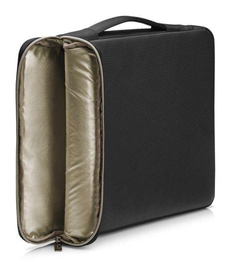 HP 15,6 Carry Sleeve 3XD35AA#ABB, černá/zlatá