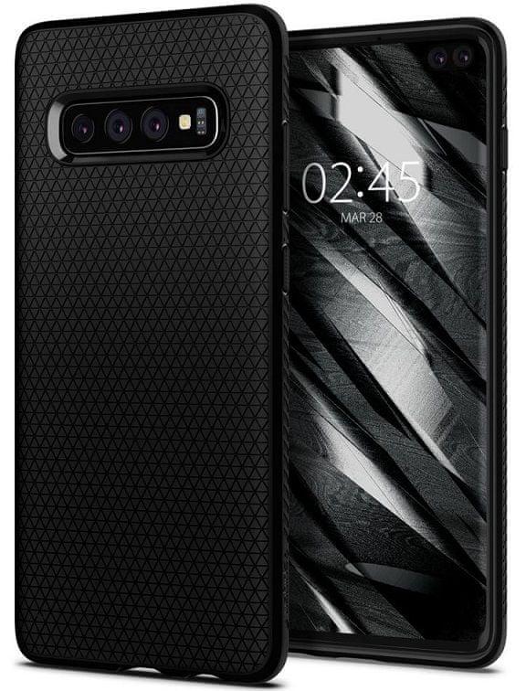 Spigen Ochranný kryt Liquid Air pro Samsung Galaxy S10 Plus, černý 606CS25764 - rozbaleno