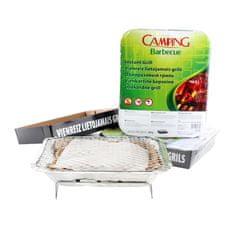 Camping Barbecue grill jednorazowy zestaw 3 szt. 27 × 22 × 5 cm