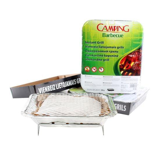 Camping Barbecue sada 3ks jednorázový gril 27 × 22 × 5 cm