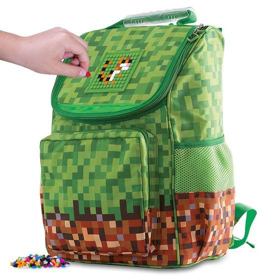Pixie Crew Školní aktovka Minecraft zeleno-hnědá