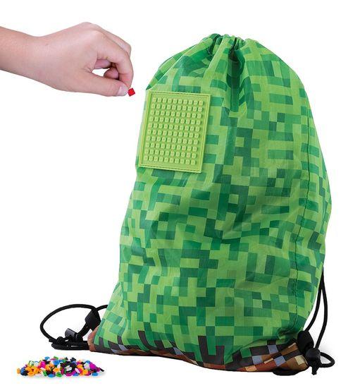 Pixie Crew Batoh/vak Minecraft zeleno-hnědý