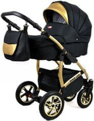 Sun Baby wózek 3w1 Raf-pol Gold LUX onyx