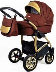 Sun Baby wózek 3w1 Raf-pol Gold LUX chocolate
