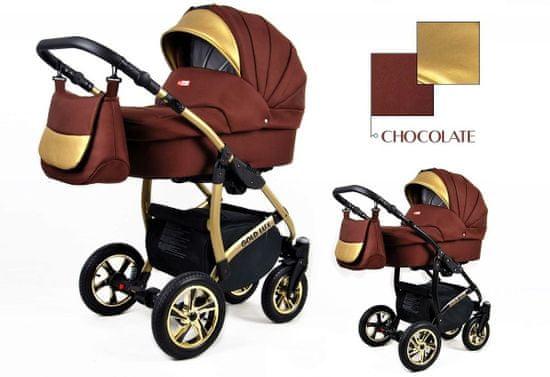 Sun Baby Kombinovaný kočárek 3v1 Raf-pol Gold LUX