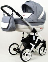 Sun Baby wózek 3w1 Raf-pol Lilly silver