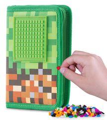 Pixie Crew Školní penál Minecraft zeleno-hnědý
