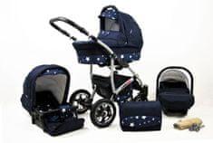 Sun Baby wózek 3w1 Raf-pol Largo navy blue star