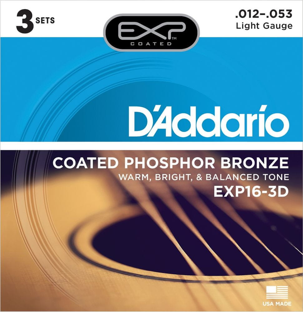 Daddario EXP16-3D Kovové struny pro akustickou kytaru