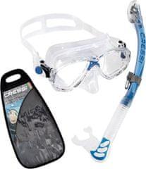 Cressi Set maska MAREA + ALPHA ULTRA DRY šnorchl, trans-modrá