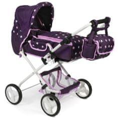 Bayer Chic Kočárek pro panenky BAMBINA fialová hvězdička