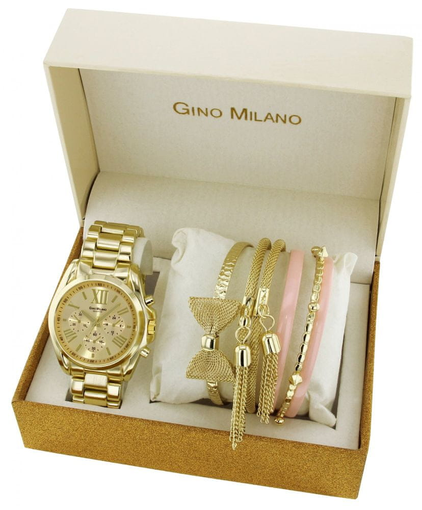 Gino Milano dámská sada hodinek a 6 náramků MWF14-028A - zánovní