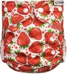 T-tomi pieluszka wielorazowa AIO - zapinana na zatrzaski, strawberries